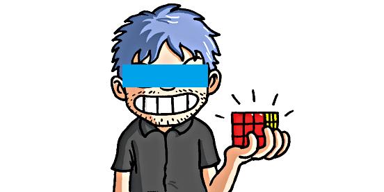 rubik's cube pochman blindfolded